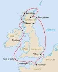 British Isles Cruise Map